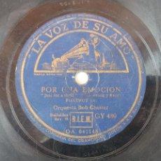Discos de pizarra: ANTIGUO DISCO DE PIZARRA LA VOZ DE SU AMO 041148 041149 ORIGINAL VER DESCRIPCION. Lote 88602712
