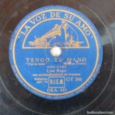 Discos de pizarra: ANTIGUO DISCO DE PIZARRA LA VOZ DE SU AMO 458 459 ORIGINAL VER DESCRIPCION. Lote 88612064