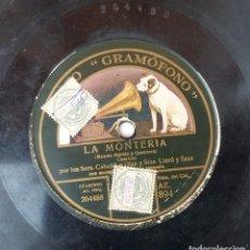 Discos de pizarra: ANTIGUO DISCO DE PIZARRA LA VOZ DE SU AMO GRAMOFONO ORIGINAL VER DESCRIPCION. Lote 88614148