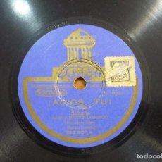 Discos de pizarra: BANDA MARTÍN DOMINGO - MARCIAL ¿ERES EL MÁS GRANDE! / ¡ADIÓS, TÚ! - PIZARRA 10'' ODEON - 182.805. Lote 88619400