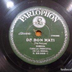 Discos de pizarra: COBLA LA PRINCIPAL DE LA BISBAL - DE BON MATÍ / UNA MIRADA - PIZARRA. Lote 88655532