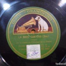 Discos de pizarra: COBLA LA PRINCIPAL DE LA BISBAL - CATALUNYA PLORA / LA MARE CANTORA - PIZARRA AE 2551. Lote 88656508