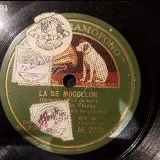 Discos de pizarra: DISCO 78 RPM - CARMEN FLORES - LA DE MOGOLLÓN - PIZARRA. Lote 88802052