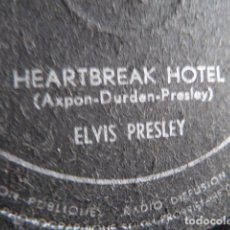 Discos de pizarra: ELVIS PRESLEY -HEARTBREAK HOTEL -I WAS THE ONE-DISCO DE PIZARRA 78 RPM EDITADO EN BELGICA. Lote 88808744