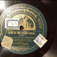 Discos de pizarra: DISCO 78 RPM - LA FORNARINA - CANCIÓN DEL RHIN - PIZARRA. Lote 88917212