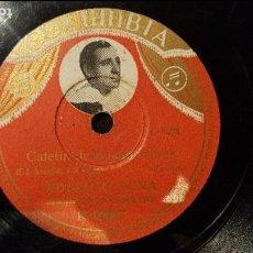 Discos de pizarra: DISCO 78 RPM - ROBERTO LUNA - TANGO - CAFETÍN DE BUENOS AIRES - PIZARRA. Lote 88920048
