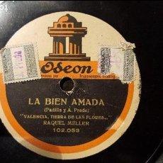 Discos de pizarra: DISCO 78 RPM - RAQUEL MELLER - LA BIEN AMADA - PIZARRA. Lote 88921072