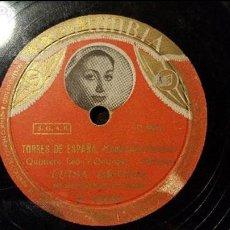 Discos de pizarra: DISCO 78 RPM - LUISA ORTEGA - TORRES DE ESPAÑA - PIZARRA. Lote 88922256