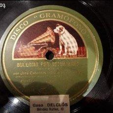 Discos de pizarra: DISCO 78 RPM - CHATO DE VALENCIA - BULERÍAS POR ASTURIANAS - PIZARRA. Lote 89068092