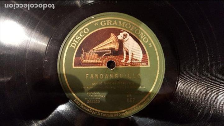 DISCO 78 RPM - NIÑO MARCHENA - R. MONTOYA - FANDANGUILLO - PIZARRA (Música - Discos - Pizarra - Flamenco, Canción española y Cuplé)