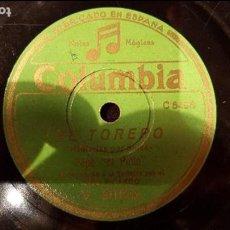 Discos de pizarra: DISCO 78 RPM - PEPE PINTO - NIÑO RICARDO - BULERÍAS POR SOLEÁ - PIZARRA. Lote 89069380