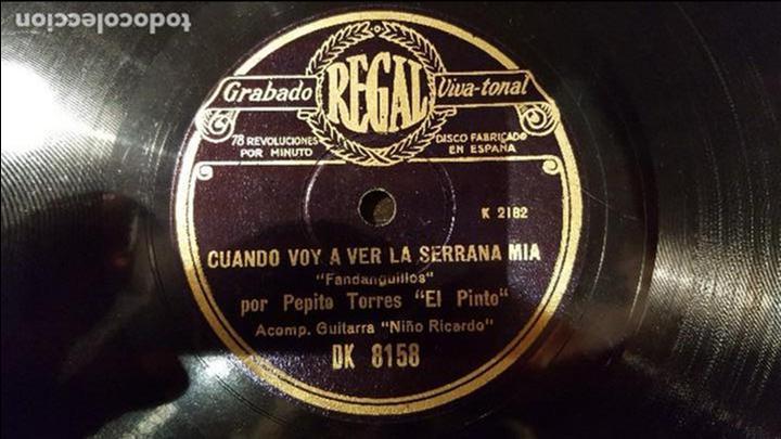 DISCO 78 RPM - PEPE PINTO - NIÑO RICARDO - FANDANGUILLOS - PIZARRA (Música - Discos - Pizarra - Flamenco, Canción española y Cuplé)