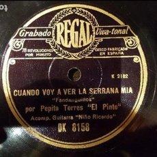 Discos de pizarra: DISCO 78 RPM - PEPE PINTO - NIÑO RICARDO - FANDANGUILLOS - PIZARRA. Lote 89070292