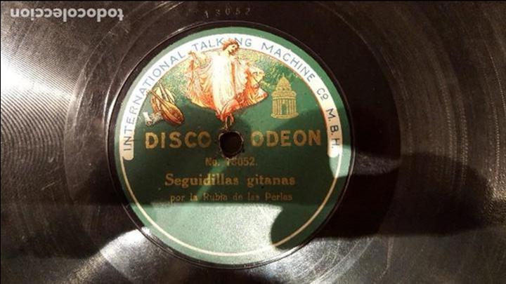 DISCO 78 RPM - RUBIA DE LAS PERLAS - SEGUIDILLAS GITANAS - PIZARRA (Música - Discos - Pizarra - Flamenco, Canción española y Cuplé)