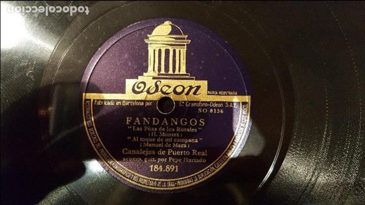 DISCO 78 RPM - CANALEJAS DE PUERTO REAL - FANDANGOS - PIZARRA (Música - Discos - Pizarra - Flamenco, Canción española y Cuplé)