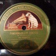 Discos de pizarra: DISCO 78 RPM - ANGELILLO - FANDANGUILLOS CORTOS - MI JACA SE ME PARÓ - PIZARRA. Lote 89072988