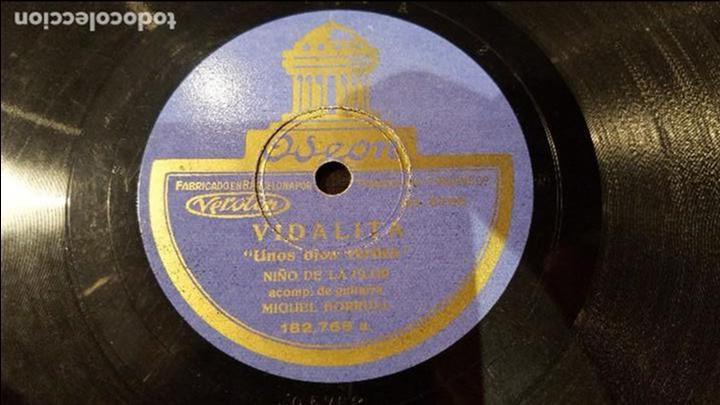 DISCO 78 RPM - NIÑO DE LA FLOR - MIGUEL BORRULL - VIDALITA - PIZARRA (Música - Discos - Pizarra - Flamenco, Canción española y Cuplé)