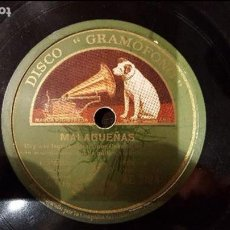 Discos de pizarra: DISCO 78 RPM - CANARIO DE COLMENAR - MALAGUEÑAS - PIZARRA. Lote 89074108