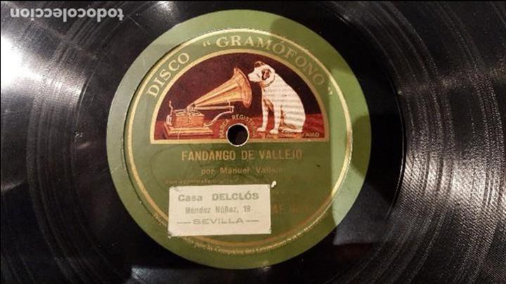 DISCO 78 RPM - MANUEL VALLEJO - M. BORRULL - FANDANGO DE VALLEJO - PIZARRA (Música - Discos - Pizarra - Flamenco, Canción española y Cuplé)