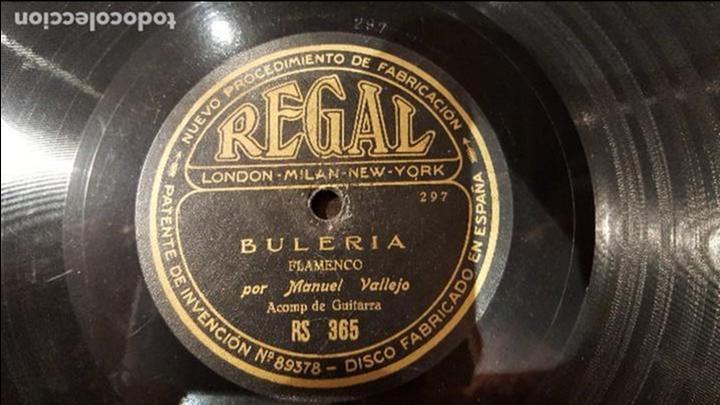 DISCO 78 RPM - MANUEL VALLEJO - BULERÍA - SOLEARES - PIZARRA (Música - Discos - Pizarra - Flamenco, Canción española y Cuplé)