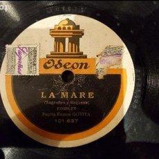 Discos de pizarra: DISCO 78 RPM - GOYITA - COUPLET - LA MARE - PIZARRA. Lote 89076520