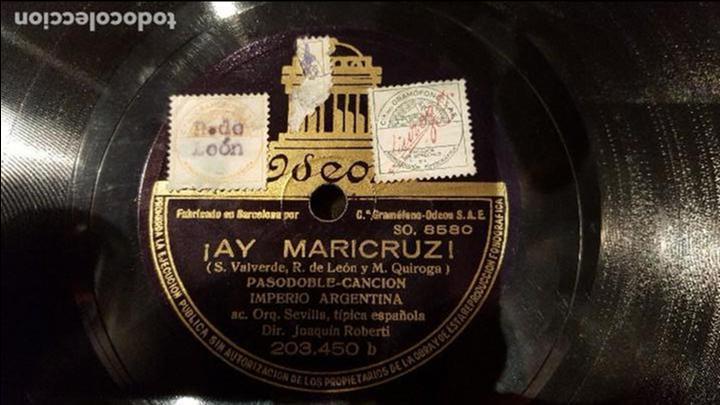 DISCO 78 RPM - IMPERIO ARGENTINA - ¡AY MARICRUZ! - PIZARRA (Música - Discos - Pizarra - Flamenco, Canción española y Cuplé)