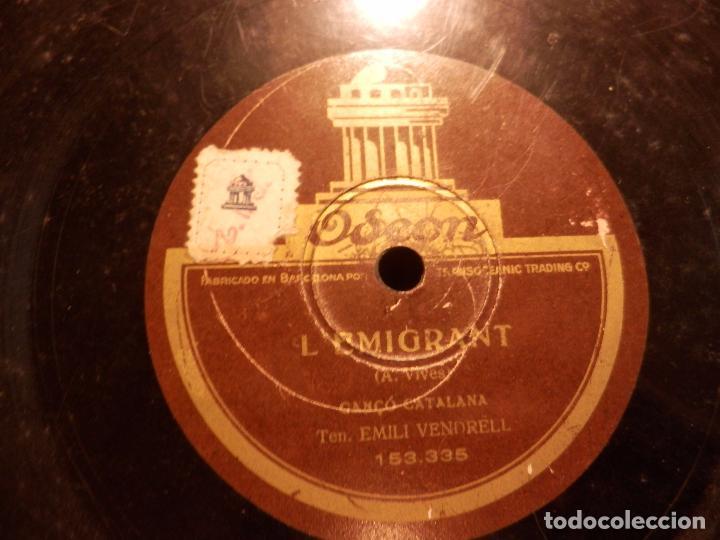 L'EMIGRANT, CANÇO CATALANA (EMILI VENDRELL) + LA BALENGUERA, CANÇO (VIVES I ALCOVER) ODEON (Música - Discos - Pizarra - Otros estilos)