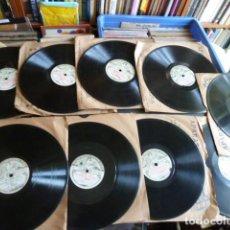 Discos de pizarra: LOTE 9 DISCOS DE PIZARRA - SOCIETA DI FONOTECA DI MILANO - M.BARRIENTOS F.VIGNAS -E,GARBIA Y MAS. Lote 89432660