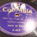 Discos de pizarra: CANCIÓN ASTURIANA DISCO DE PIZARRA RARO. Lote 89456172