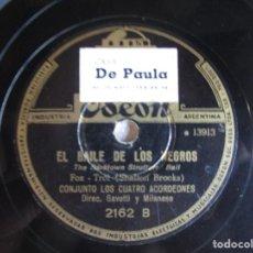 Discos de pizarra: DISCO PIEDRA 10 ZAPATEANDO SUAVEMENTE Y EL BAILE DE LOS NEGROS ODEON. Lote 90573445