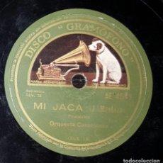 Discos de pizarra: DISCO 78 RPM - ORQUESTA CASABLANCA - MI JACA - PIZARRA. Lote 90747575