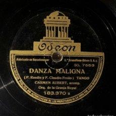 Discos de pizarra: DISCO 78 RPM - CARMEN AUBERT - TANGO - DANZA MALIGNA - PIZARRA. Lote 90820805