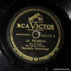 Discos de pizarra: DISCO 78 RPM - RONDALLA USANDIZAGA - JOTA - LA PILARICA - PIZARRA. Lote 90821235
