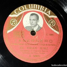 Discos de pizarra: DISCO 78 RPM - EL GRAN KIKI - TANGO DEL BORRACHO - TABERNERO - PIZARRA. Lote 90822215