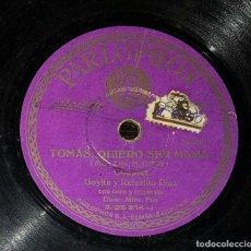 Discos de pizarra: DISCO 78 RPM - GOYITA - RAFAELITO DÍAZ - COUPLET - TOMÁS QUIERO SER MAMÁ - PIZARRA. Lote 90827855