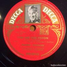 Discos de pizarra: DISCO PIZARRA DE MAURICE CHEVALIER.78 RPM DECCA.LES PARIGOTS. Lote 90860953