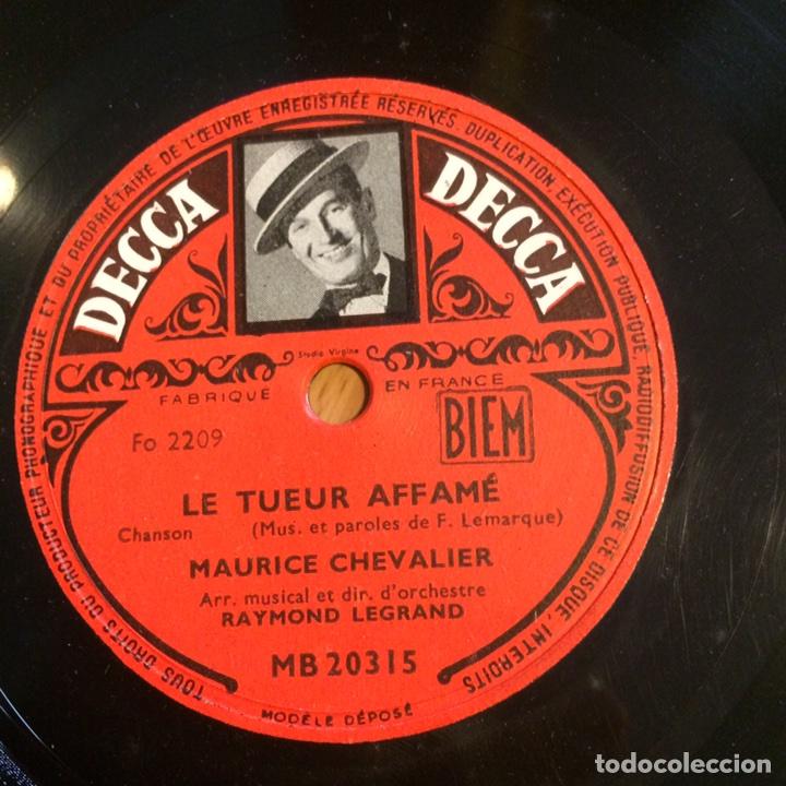 Discos de pizarra: Disco pizarra de maurice chevalier.78 rpm decca le tueur affame - Foto 2 - 90861082