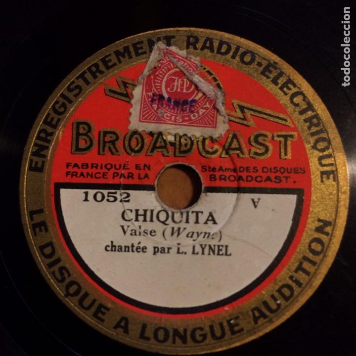 DISCO PIZARRA 78 RPM 20 CM.BROADCAST RADIO ELECTRIQUE .FRANCIA (Música - Discos - Pizarra - Otros estilos)