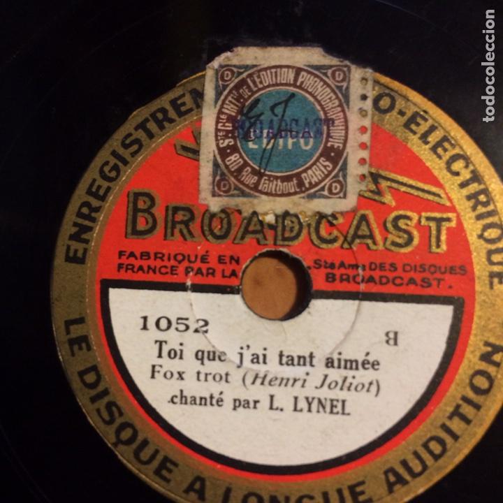 Discos de pizarra: Disco pizarra 78 rpm 20 cm.broadcast radio electrique .francia - Foto 2 - 90865239