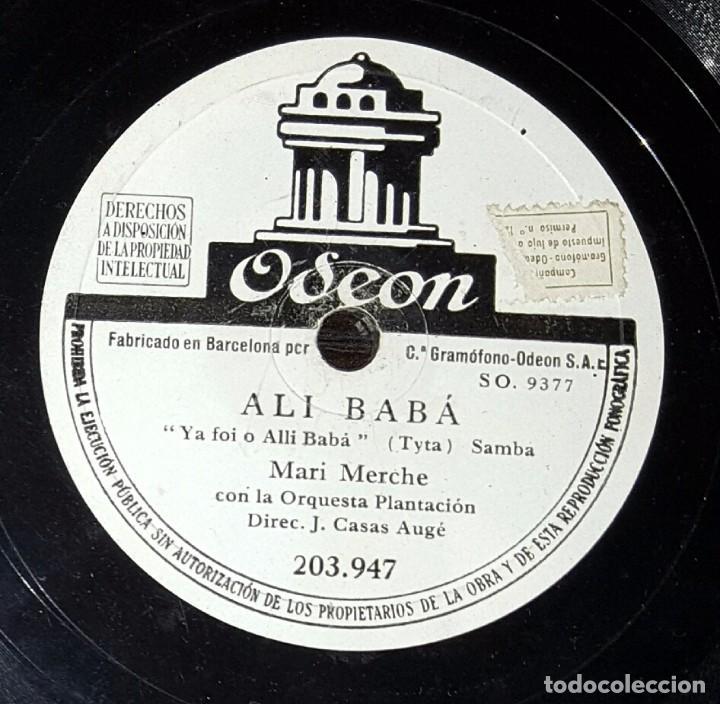 DISCO 78 RPM - MARI MERCHE - ORQUESTA PLANTACIÓN - ALÍ BABÁ - PIZARRA (Música - Discos - Pizarra - Solistas Melódicos y Bailables)