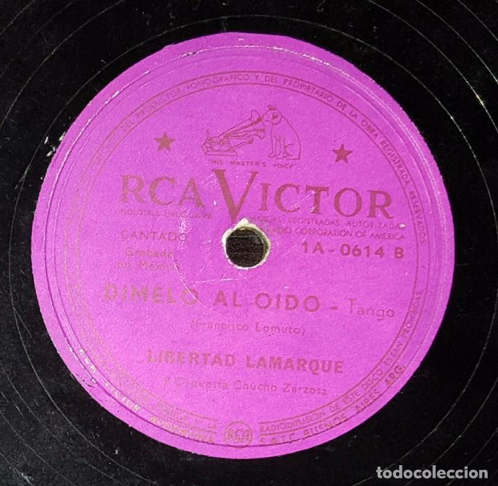 DISCO 78 RPM - LIBERTAD LAMARQUE - DÍMELO AL OÍDO - TANGO - PIZARRA (Música - Discos - Pizarra - Solistas Melódicos y Bailables)