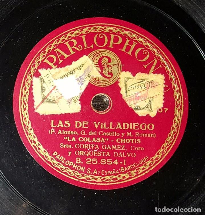 DISCO 78 RPM - CORITA GÁMEZ - LAS DE VILLADIEGO - PIZARRA (Música - Discos - Pizarra - Flamenco, Canción española y Cuplé)