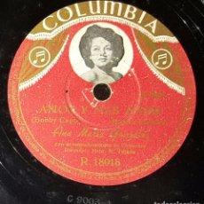 Discos de pizarra: DISCO 78 RPM - ANA MARÍA GONZÁLEZ - AMOR Y MÁS AMOR - PIZARRA. Lote 91393620