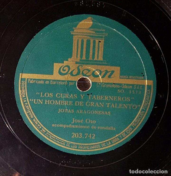 DISCO 78 RPM - JOSÉ OTO - RONDALLA - JOTAS ARAGONESAS - PIZARRA (Música - Discos - Pizarra - Flamenco, Canción española y Cuplé)