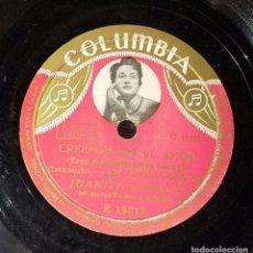 Discos de pizarra: DISCO 78 RPM - JUANITA CUENCA - CREEMOS EN EL AMOR - PIZARRA. Lote 91395925