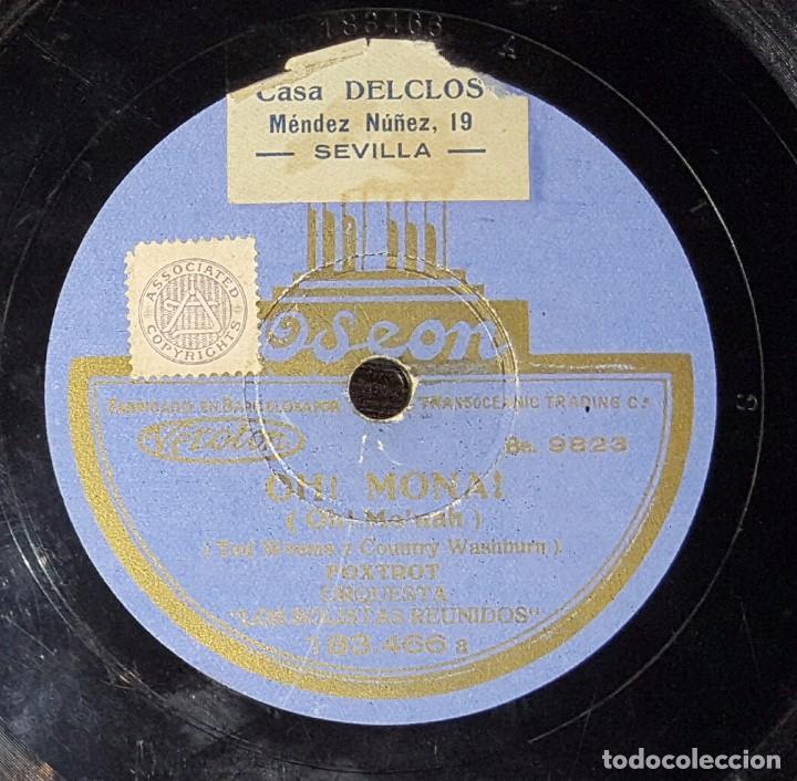 DISCO 78 RPM - ORQUESTA LOS SOLISTAS REUNIDOS - OH! MONA! - PIZARRA (Música - Discos - Pizarra - Solistas Melódicos y Bailables)