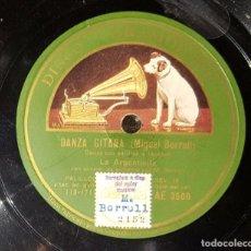 Discos de pizarra: DISCO 78 RPM - LA ARGENTINITA - MIGUEL BORRULL - DANZA GITANA - PIZARRA. Lote 91396900