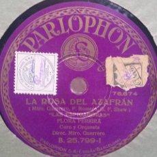 Discos de pizarra: DISCO PIZARRA 78 RPM - FLORES PEREIRA Y SRES. CUEVAS Y ALBA. Lote 91659165