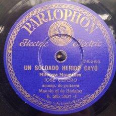 Discos de pizarra - DISCO PIZARRA 78 RPM - JOSE CEPERO & MANOLO DE BADAJOZ (Guitarra) - 91659620