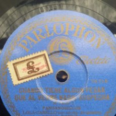 Discos de pizarra: DISCO PIZARRA 78 RPM - LOLA CABELLO & MIGUEL BORRULL (GUITARRA). Lote 91659825